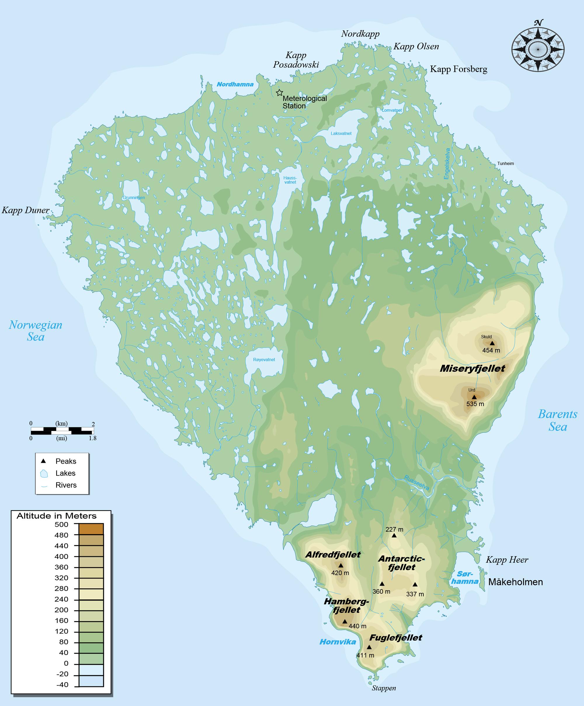 kart over bjørnøya Kart | Bjørnøya Meteorologiske Stasjon kart over bjørnøya