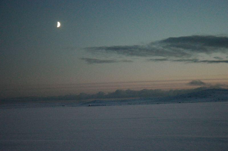 Månen hjalp heller ikke til med fiskelykka. Foto: BOF