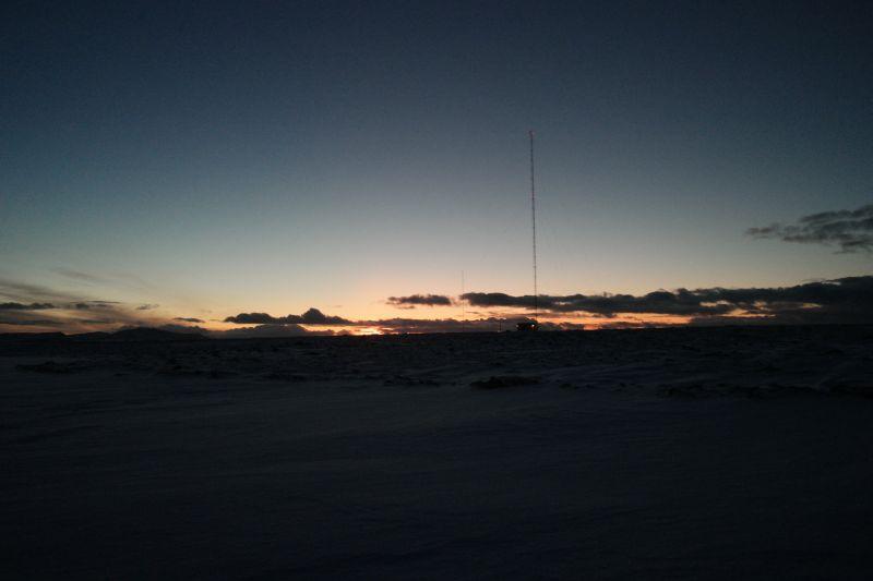 Utsikt mot vest fra Midtpunktet. Foto: BOF