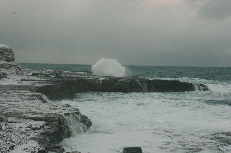 Sjøsprøyt ved Gravodden. Foto: BOF