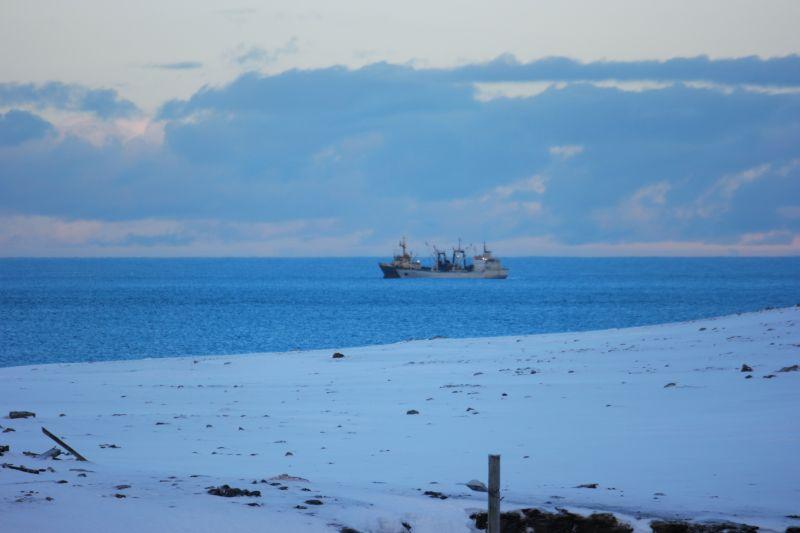 Den ene av fiskebåtene som hadde en syk fisker om bord. Foto: BOF