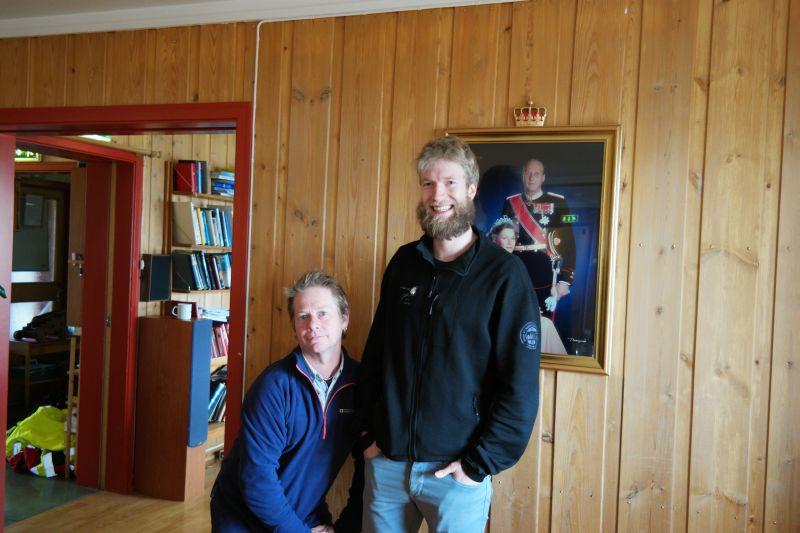 Ian Wright til venstre og Rune til høyre, hvis noen skulle være i tvil Foto: BOF