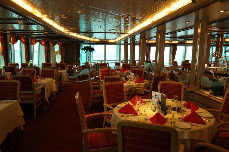Restauranten om bord. Foto: BOF