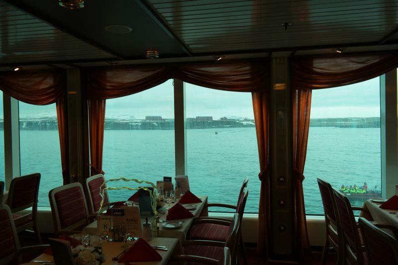 Utmerket utsikt fra restauranten. Foto: BOF
