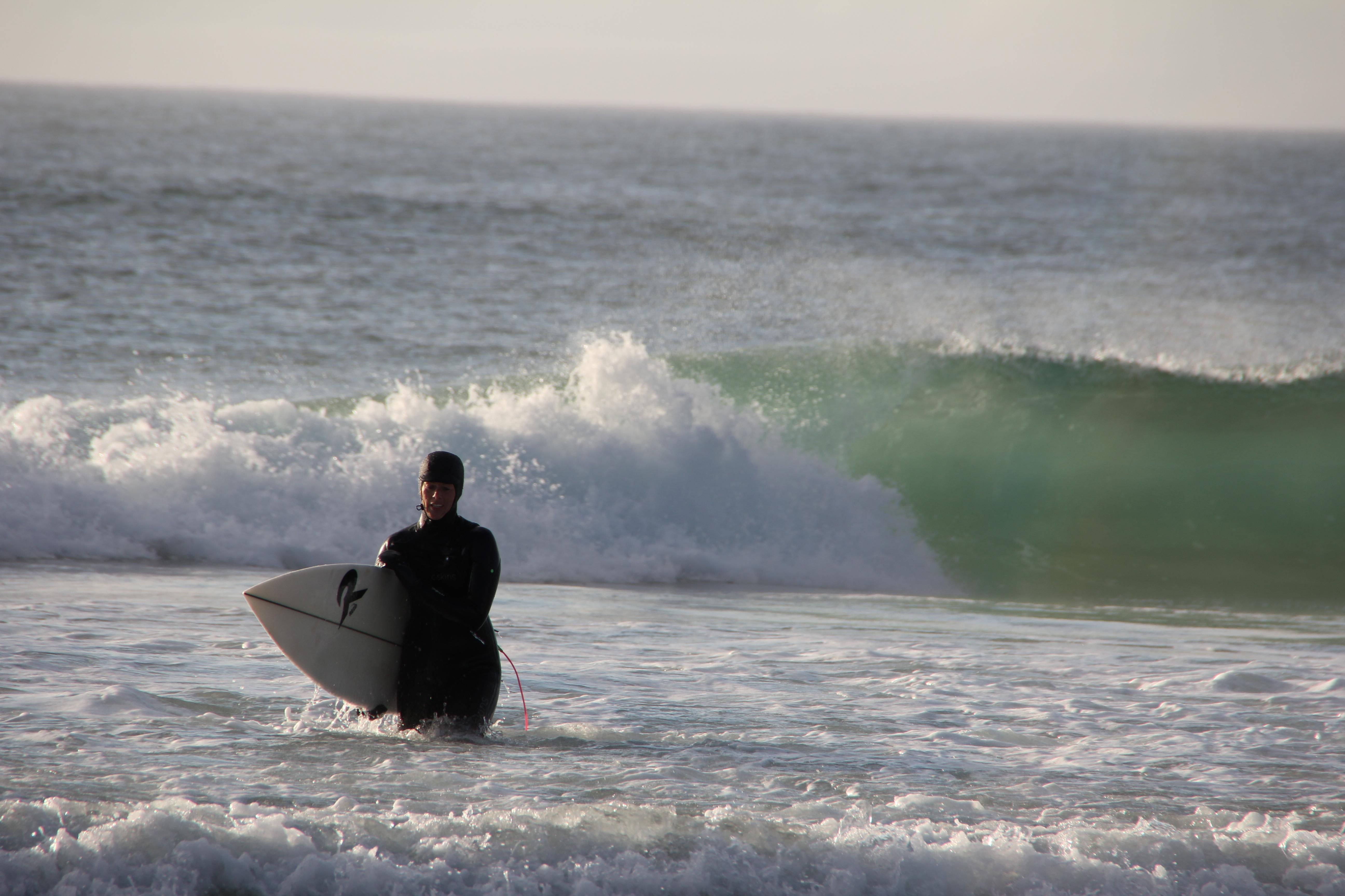 Surfen er ferdig
