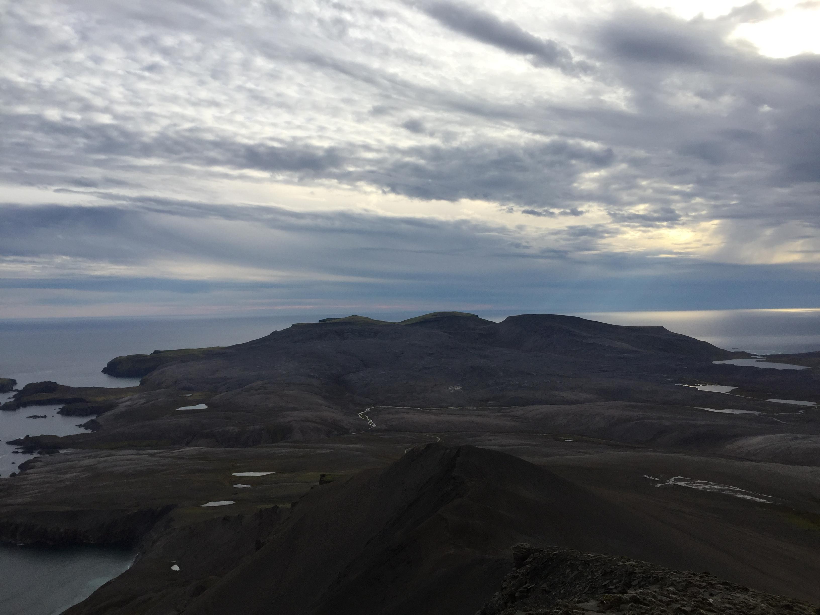 Utsikt mot fjellene i sør