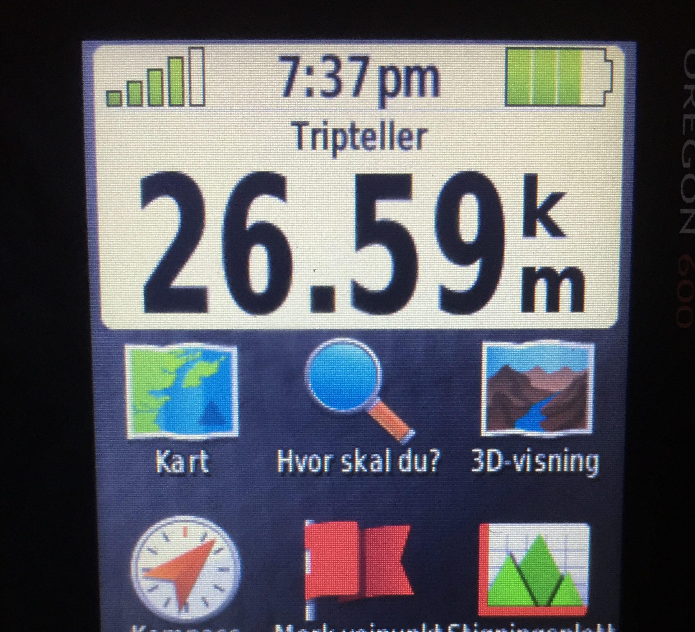 26,5 km dag 1