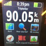 Totalt 90km på 3 dager