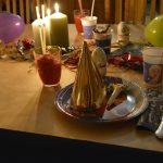 Bordet pyntet til barnebursdag