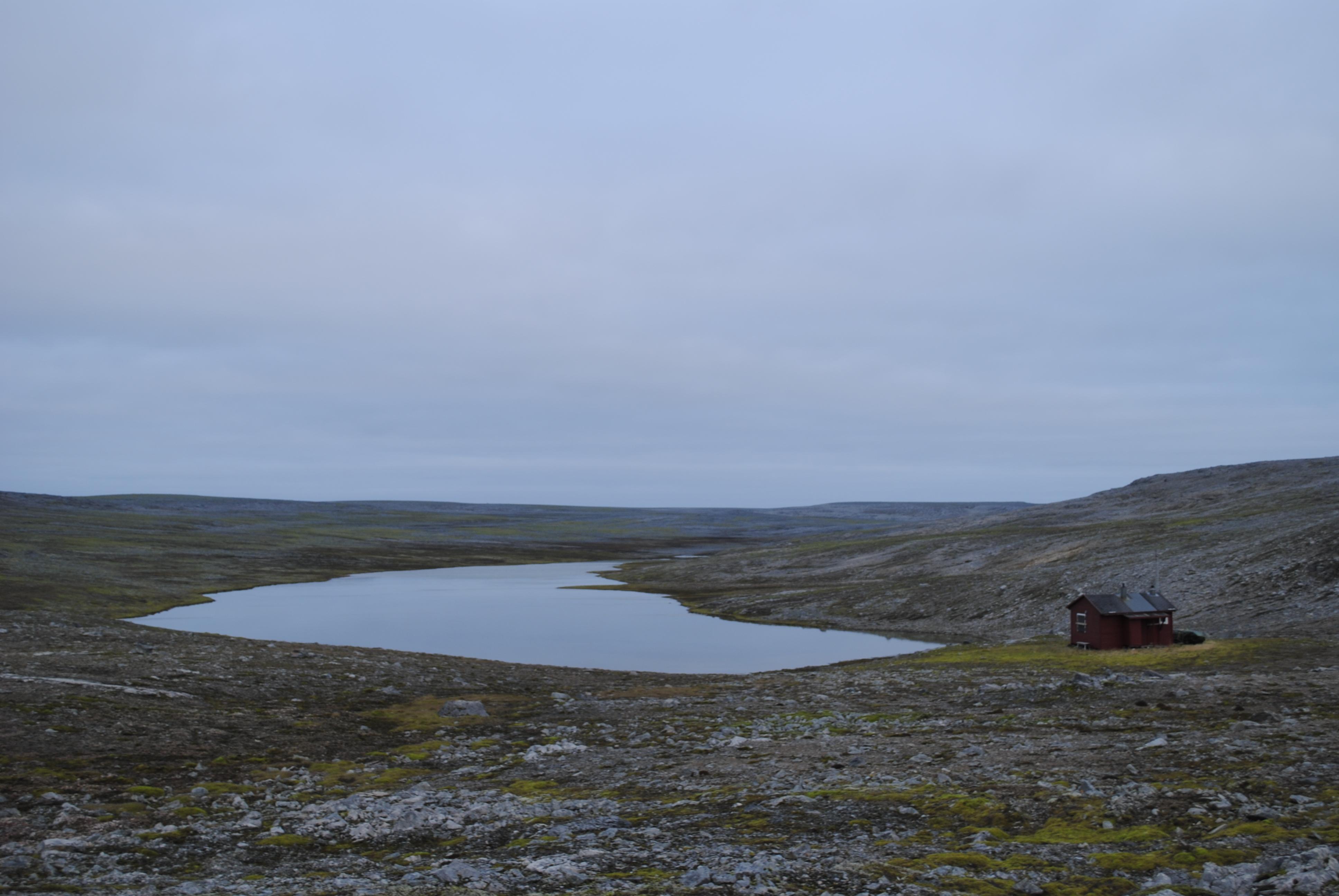 Hytta ved Skutilen, startpunkt for dagsetappen fra sør til nord