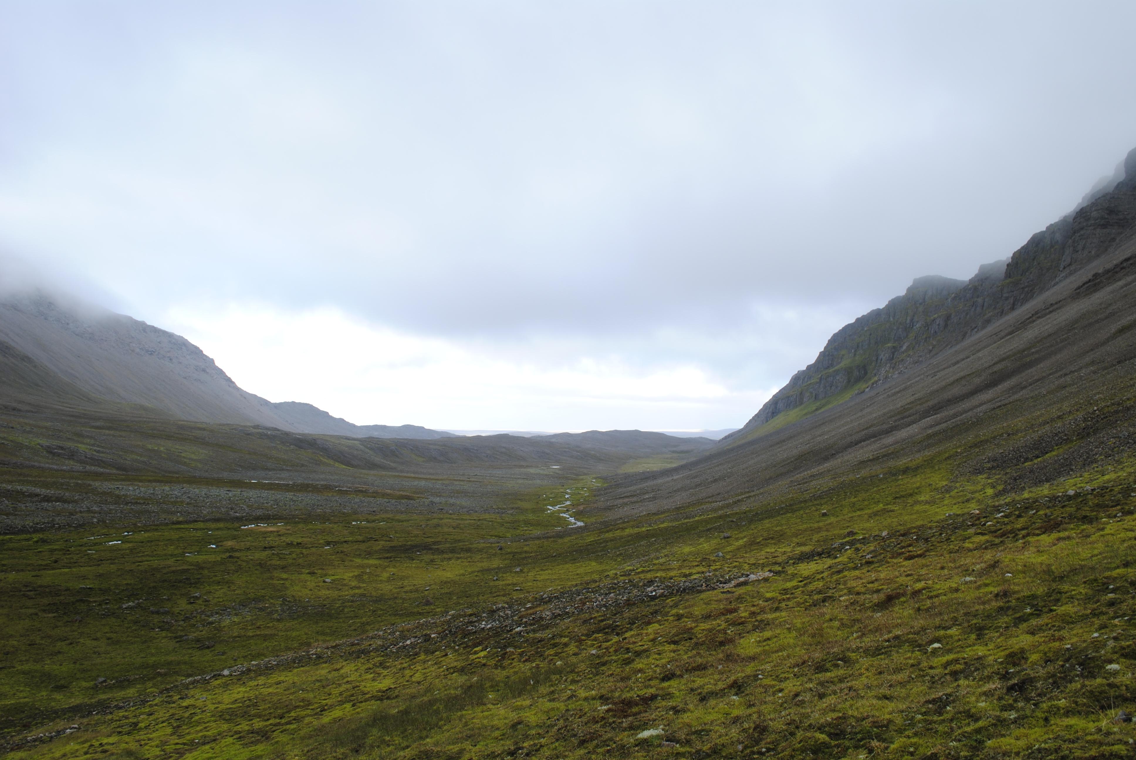 Ymerdalen på vei nordover