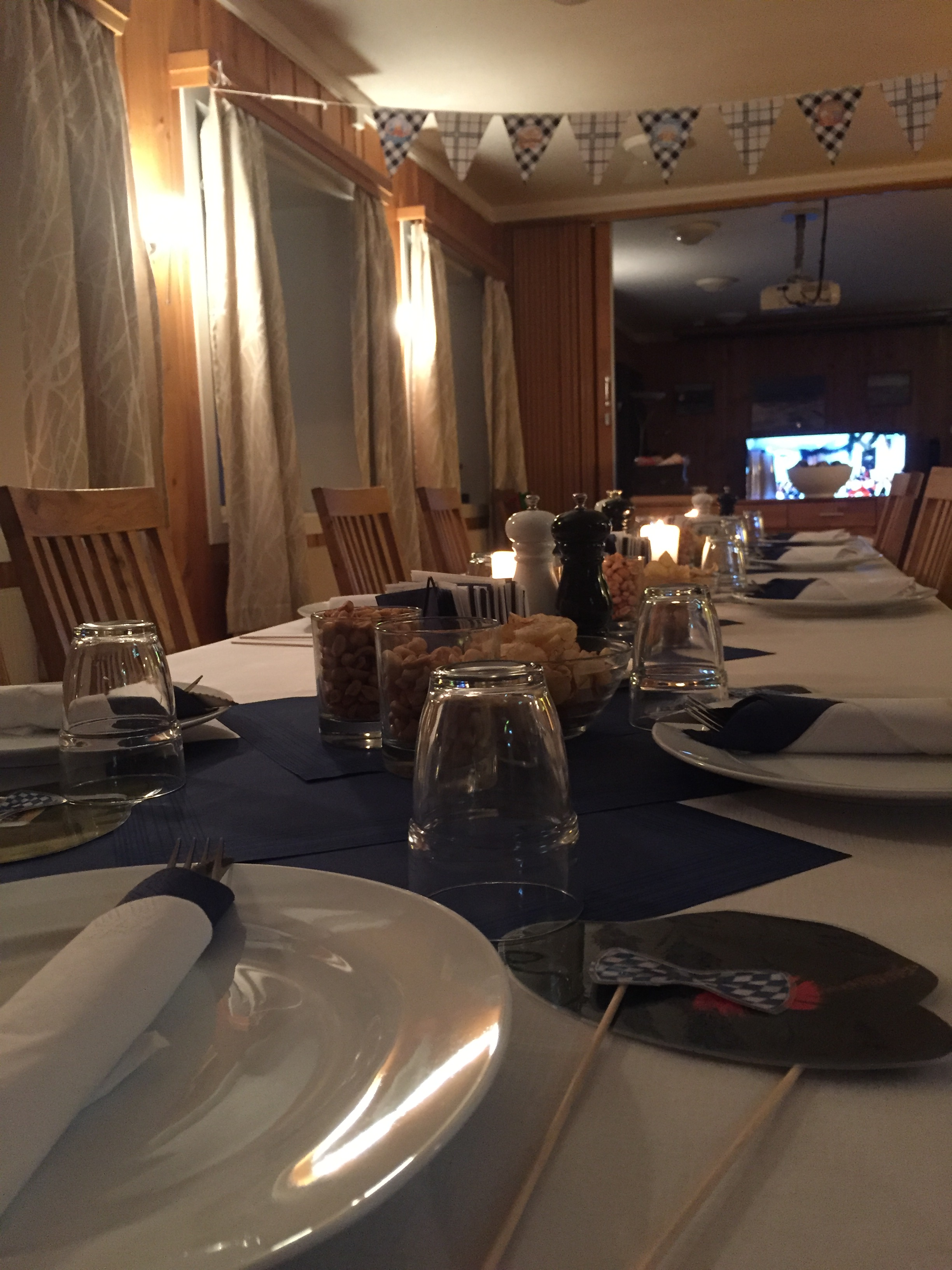 Bordet er dekket til Oktoberfest