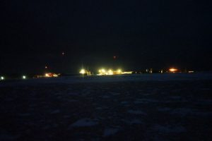Stasjonen sett fra Tobiaselva.