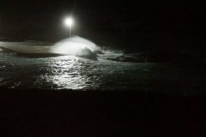 Bølger over kaia